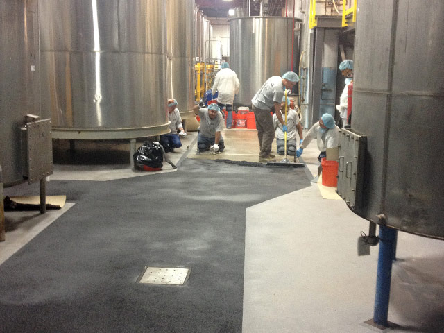 Food Processing Flooring Installation