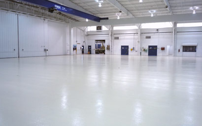 Epoxy Floor Coating in Helicopter Hangar