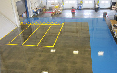 Epoxy Floor Coating in Warehouse