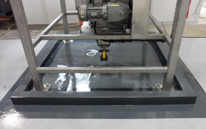 Epoxy Mortar Containment