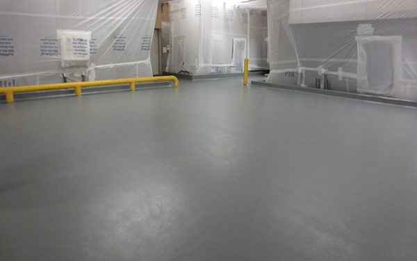 beverage mixing room floor refinishing